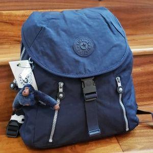 NWT kipling Zakaria backpack True Blue